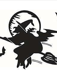 High Quality 3D Halloween Party Black Bats Witch Flying Decorative Wall Sticker Decoration Eve Of Halloween Home Decor