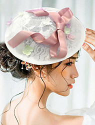 Women's Satin / Lace Headpiece-Wedding / Special Occasion Fascinators / Hats 1 Piece