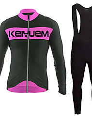 KEIYUEM®Spring/Summer/Autumn Long Sleeve Cycling Jersey+Long Bib Tights Ropa Ciclismo Cycling Clothing Suits #L75
