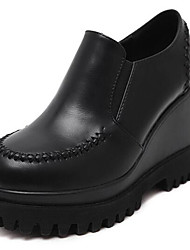 Women's Loafers & Slip-Ons Spring / Fall Wedges Leatherette Outdoor Platform Others Black Walking