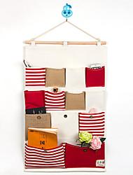treize poches derrière le sac de rangement de style de la marine de la porte