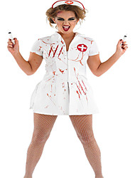 Costumes Uniforms Halloween White Solid / Print Terylene Skirt Nurse