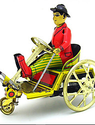 Novelty Toy Pretend Play  Puzzle Toy Wind-up Toy Novelty Toy Carriage  Bicycle Metal Yellow For Kids