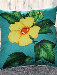 PC Lino Funda de almohada,Floral Casual Campestre