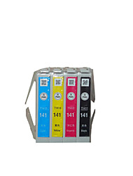 For Epson T141 Cartridge Applicable Models: Me620F  A Group of  Four Color Black, Red, Yellow, Blue