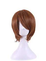 The New Anime Wigs Universal Fix Face Dark Brown Become Warped Wig Cos 8 Inch