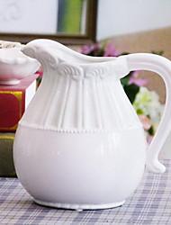 Mediterranean European-Style Ceramic Milk Pot Vase White Minimalist Flower Vase