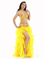 Belly Dance Outfits Women's Performance Polyester Split Front 3 Pieces Belly Dance Sleeveless DroppedTop