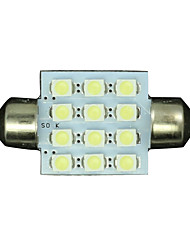 4pcs White 36mm 12-3528 SMD Festoon Dome Map Interior LED Light Lamp DE3175 3022