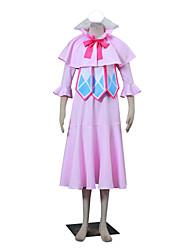 Inspirado por Fairy Tail Winry Animé Disfraces de cosplay Trajes Cosplay Un Color Rosa Sin Mangas Capa / Vestido