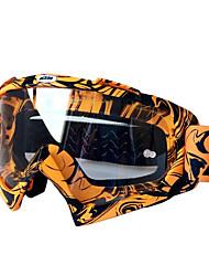 Yellow Color, PC Material Goggle, Transparent Lenses Sediment Control Windproof Ski Glasses