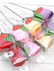 1PC Rose Towel Gifts for Festival Christmas Cotton Line