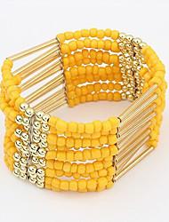 Strand Bracelets 1pc,Yellow / Blue / Purple Bracelet Fashionable Circle 514 Alloy Jewellery