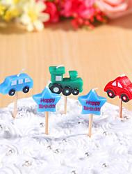 partido velas de aniversário decoração happybirthday definido (5 Pieces) desenhos animados pequenas velas