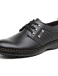 Men's Shoes Leather Office & Career / Casual Clogs & Mules Office & Career / Casual Walking Flat Heel Black / Brown