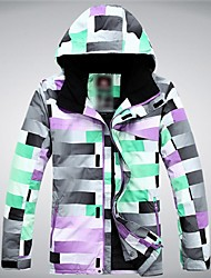 Ski Wear Ski/Snowboard Jackets Men's Winter Wear Polyester Plaid/Check Winter Clothing Thermal / Warm / Windproof / WearableSkiing /