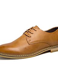 Для мужчин обувь Микроволокно Весна Осень Удобная обувь Формальная обувь Туфли на шнуровке Шнуровка Назначение Повседневные Черный Желтый