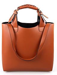 Women PU Casual Outdoor Office Career Vintage Pure Color Handbags Shoulder Bag