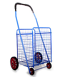 Jumbo Folding Shopping Trolley Vegetable Carts Folding Container (Sale 42 * 39 * 84Cm Blue)