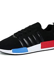 мужская обувь случайные ткани моды кроссовки кроссовки черный / синий / красный