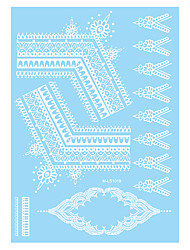 1pc White Lace Folwer Henna Temporary Tattoo Body Art Tattoo Sticker Best Friends Wedding WM-LS1019