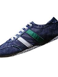 Синий / Серый-Мужская обувь-Для прогулок / На каждый день-Полотно-Башмаки и босоножки