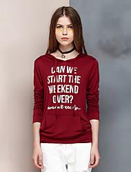 Herz Soul® Damen Rundhalsausschnitt Lange Ärmel Shirt & Bluse Rot-24AA25298