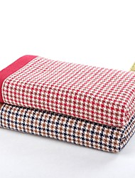 """1 PC Full Cotton Thickening Hand Towel 13"""" by 29"""" Super Soft Plaid Pattern"""