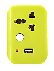 с помощью переключателя беспроводного мобильного интеллектуального конвертера штепсельной вилки полосы с USB многофункциональном гнездо
