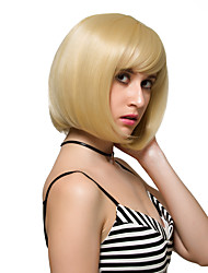 Blonde short hair, fashion wigs.