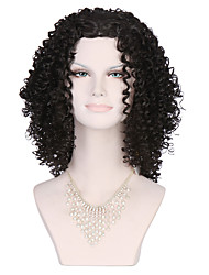 Black Color Kinky Curly Women Fashion European and American Synthetic Wigs