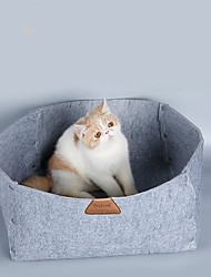 natural cinza / laranja / verde do estilo rural animais dupla usada cama e cobertor para animais de estimação cães e gatos