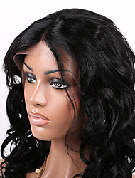 EVAWIGS 100% Brazilian Virgin Hair 10-28 Inch Natural Color Loose Wave Lace Front Wig For American African Black Women