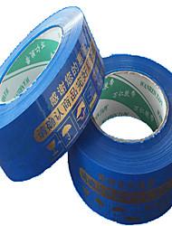 avertissements d'or bleu ruban d'emballage de bande d'étanchéité de marquage largeur de bande 4.5cm 2.5cm d'épaisseur