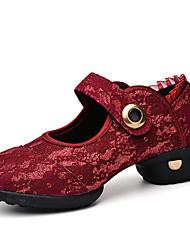 Keine Maßfertigung möglich Damen Modern Spitze Leder Sneakers Aufführung Niedriger Heel Weiß Schwarz Rot