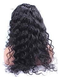 """8 """"-24"""" 6a brasilianisches reines Haar lose Welle 120% Dichtespitzefrontseitenperücke lose lockige Menschenhaarperücken für schwarze"""