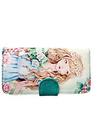 Flower Princess® Women Canvas Wallet Green-1504S00101
