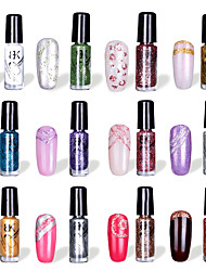 Fashion French Manicure Nail Art Paint Liner Shining Gold Glitter Nail Varnish Nail Polish Drawing Pen Tools Kit