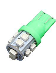 10x vive t10 vert   10-SMD LED W5W intérieur de la lumière 2825 158 192 168 194 906