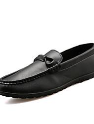 Masculino-Sapatos de Barco-Rasos-Rasteiro-Preto / Azul / Branco / Laranja-Couro-Casual