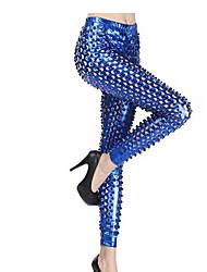 Pantalon Punk Cosplay Vêtements de Lolita Doré / Argent / Noir / Bleu Couleur Pleine Pour Térylène