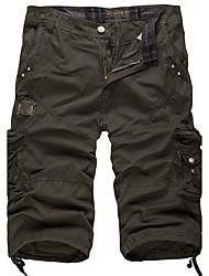 Homme Vintage simple Actif Taille Normale non élastique Short Pantalon,Ample Couleur Pleine