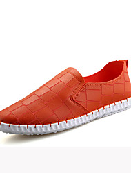 Men's Loafers & Slip-Ons Spring / Summer / Fall Round Toe PU Outdoor / Casual Flat Heel Slip-on