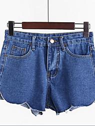 Pantalon Aux femmes Short / Jeans simple Coton / Polyester Micro-élastique