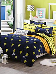 Diamond Print Bedlinen Fleece winter bedding set queen king size soft bedsheet pillowcase Duvet cover 4pcs bed set