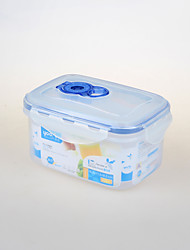 Housewares BPA Free Plastic Crisper Food Storage Box (800ml)