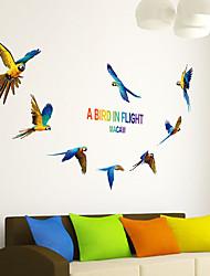 Animales Pegatinas de pared Calcomanías de Aviones para Pared Calcomanías Decorativas de Pared,PVC Material Puede Cambiar de Ubicación