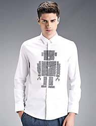 Autumn new shirt cotton men's shirts wash and wear business men's wear long sleeve white shirt SY-1880