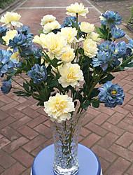 1 1 Ramo Poliéster / Plástico Cravo Flor de Mesa Flores artificiais 23.6inch/60cm