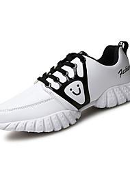 Femme-Décontracté-Noir / Rouge / Blanc-Talon Plat-Confort-Sneakers-Polyuréthane